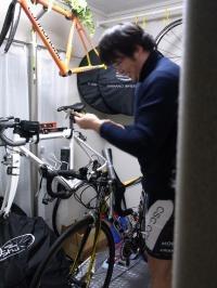 自転車部屋突撃~