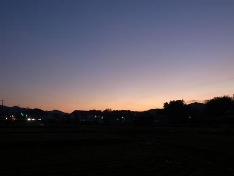 飛鳥の夕焼け