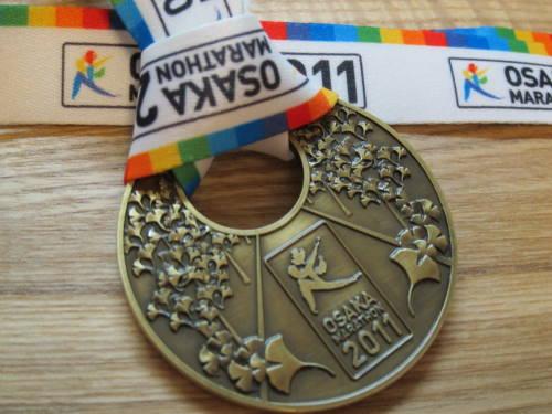 大阪マラソン完走メダル
