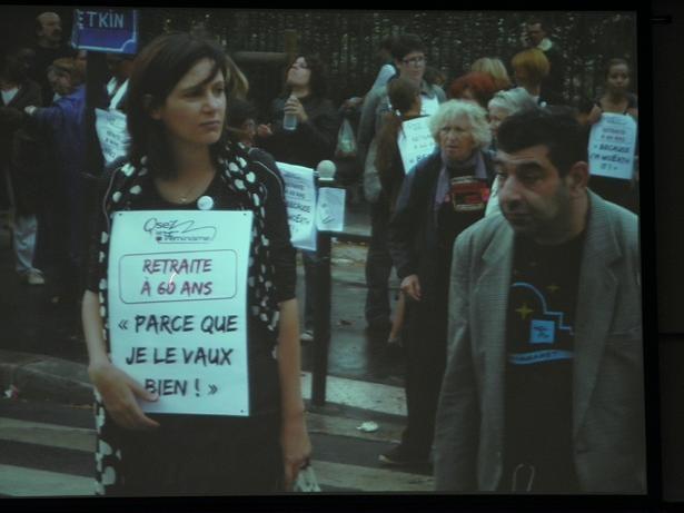 フランスデモフェミニスト
