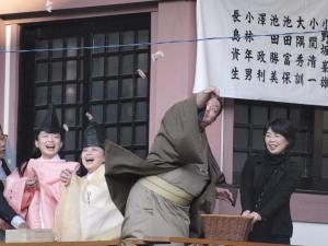 今戸神社豆まき2