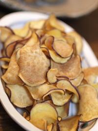 20100213夕食さつま芋チップス
