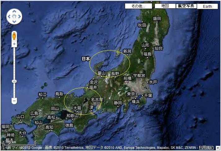 日本列島地図2
