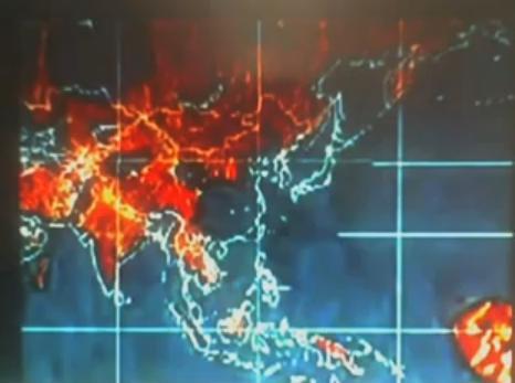 2012年 NASA世界地図