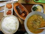 20100501 寿苑 テグタンスープ定食+サバ煮
