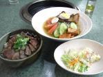 20100904のむらやトロ炙り丼と冷麺