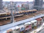20100926阪神御影駅1-tiltshift