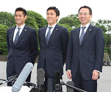 20100710天皇陛下、サッカー日本代表を招待