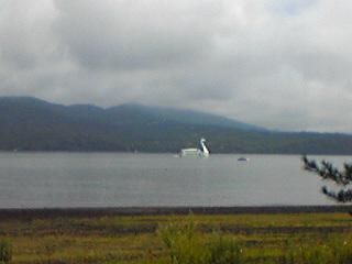 20100822山中湖のスワンボート