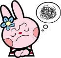 考えるウサギ