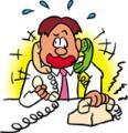 電話集中で混乱