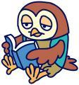 フクロウ読書