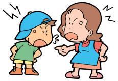 喧嘩する親子