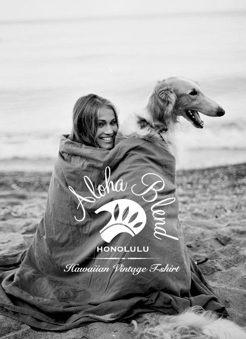 women & dog