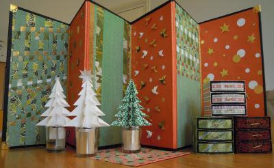 ~ Noël ~  クリスマスのディスプレイ用の屏風とツリー
