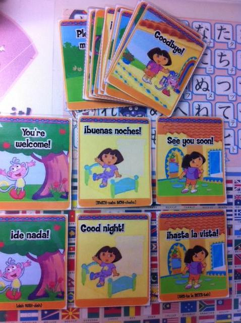Dora flash cards1