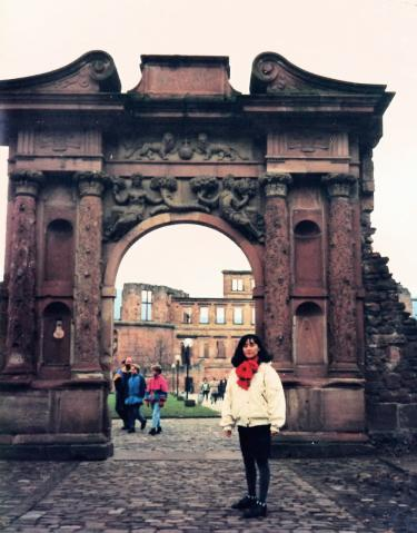 妃の門の前