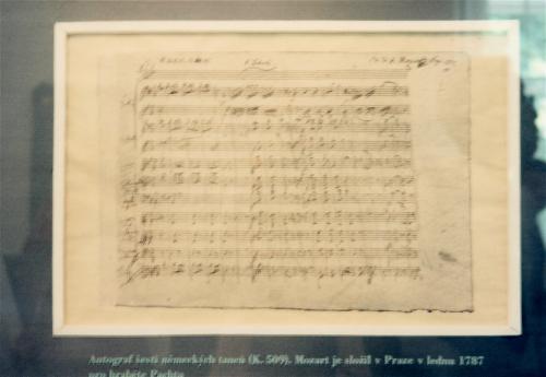 モーツアルトの楽譜
