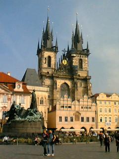 プラハ市庁舎前広場
