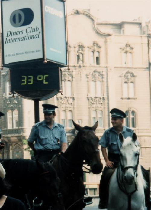 ハンガリーの騎馬警察