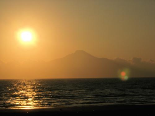 利尻の夕日