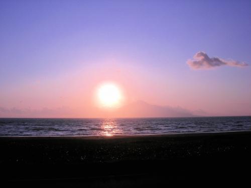利尻島の日の入り