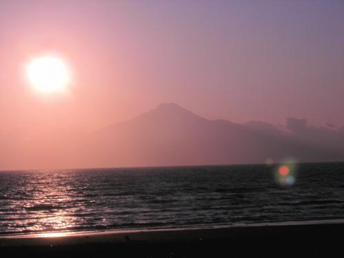 利尻島の夕日