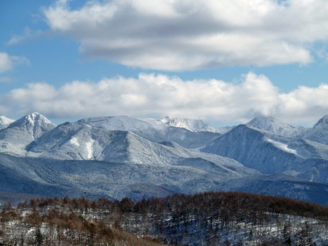 第4リフト頂上から臨む八ヶ岳連峰