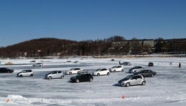 氷上ドライブ順番待ち
