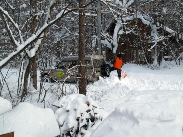 四駆で除雪