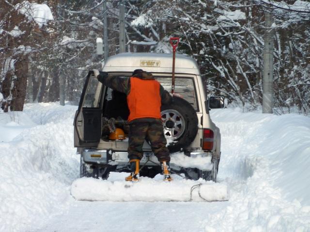 四駆の除雪車