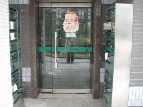 入り口サンタ