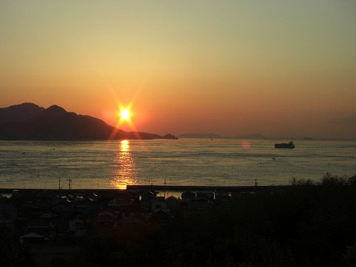 来島海峡の日の出