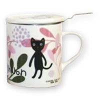 猫グッズ【シャロン】ハーブマグ 葉柄