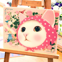 choochoo 猫のマウスパッド ピンクずきん