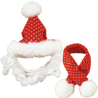 サンタラメ帽子&マフラー