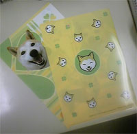 チコちゃんクリアファイル(裏)