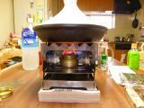 s-タジン鍋をプチかまどL1にセット