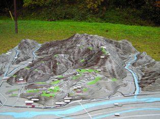 月山富田城 模型
