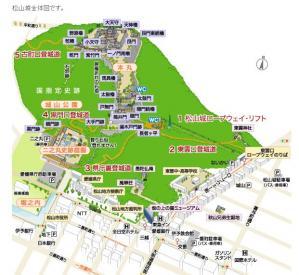 松山城 全体図