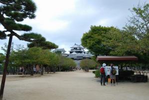 松山城 太鼓櫓前から