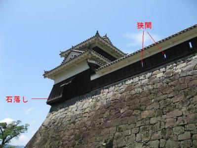 ku.熊本城 20110204 狭間と石落し