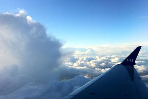 SAS飛行機からの風景