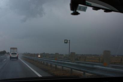 雨だよ、気温は最低で5度