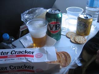 機内ビール