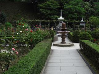 円通院のバラ園
