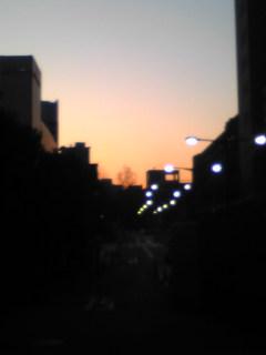 本郷の夕焼け