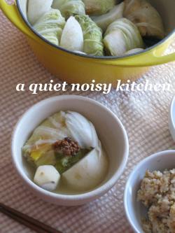 ロール白菜鍋1