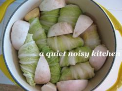 ロール白菜鍋2