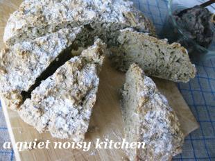 雑穀とそば粉のクイックブレッド